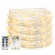 Senbao 5.2m 50 LED Dimmable Rope Lights, Battery Powered, Waterproof, 8 Modes/Timer, Fairy Lights for Garden Patio Party Christmas Thanksgiving Outdoor Decoration