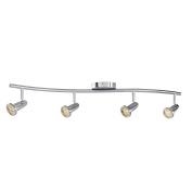 Access Lighting 52204LEDD-BS Cobra 4-Light LED Wall/Ceiling Semi-Flush Spotlight Bar, Brushed Steel