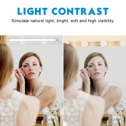 PlusMart Bathroom Vanity Light LED Mirror Light for Make Up Mirror Vanity Mirror Light with Touch Dimmer and USB Powered Cosmetic Light Kit