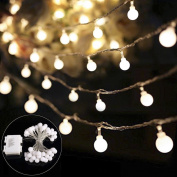 B-right Globe String Light, 40 LED 4.5m Battery Powered Outdoor Waterproof Ball Starry Fairy String Light with 8 Modes for Christmas/Wedding/Party/Garden, Warm White