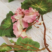 Factory Direct Craft Pair of Beautiful Pink Geranium and Leaf Decorative Garland for Crafting and Home Decor