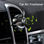ASFLY Car Air Freshener Aromatherapy Essential Oil Diffuser Zinc Alloy Material Propeller Locket with 6 Refill Pads