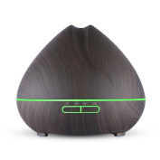 Large Capacity Essential Oil Diffuser 550ml Ultrasonic Cool Mist Wood Grain Aromatherapy Oil Diffuser Humidifier Whisper Quiet Air Purifier for Home Office Yoga