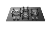 Empava Built-in 4 Burners Stove Gas Cooktop, Tempered Glass, Black
