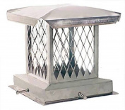 The Forever Cap CCSSE1313 33cm x 33cm Stainless Steel Single Flue Diamond Mesh Chimney Cap