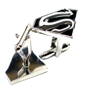 Velvet Box - Superman Super Hero Cufflink Men's Jewellery Shirt Cuff Link Fashion Party Wedding Gift