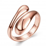 YAZILIND Shiny Jewellery Simple Design Opening Gold Plated Rings for Women Adjustable