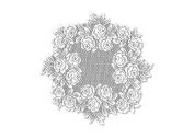 Tea Rose 38cm Round Doily, White