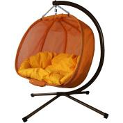 Pumpkin Loveseat Chair, Orange