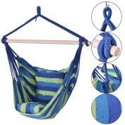 Zimtown Canvas Hammock Hanging Rope Chair Patio Porch Yard Tree Hanging Air Swing Outdoor
