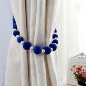 Trycooling 1 Piece Modern Pastoral Style Hand Made DIY Beaded Curtain Tiebacks Holdbacks Rope Tying