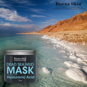 Dead Sea Mud Mask Infused With Hyaluronic Acid, 240ml — Exfoliate, Cleanse And Detoxify Your Skin | Reduces Pores, Breakouts and Wrinkles | Repairs Signs of Ageing Naturally | Suitable For All Skin Types