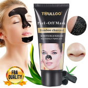 Black Mask, Charcoal Peel Off Mask, Blackhead Mask Peel Off, ToullGo Purifying Peel-off Mask Black Mud Pore Removal Mask For Face Nose Acne Treatment Oil Control