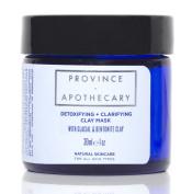 Province Apothecary Detoxifying and Clarifying Clay Mask with Kaolin Clay, Bentonite Clay, Canadian Algae and Rhassoul Clay, 30ml