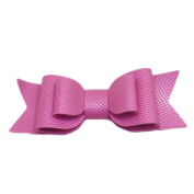 WuyiMC Boutique Leather Baby Hair Bow with Clip Perfect for Daily/Party/Photo Wear and Easy to Take Pff or Wear