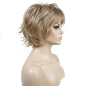 Lydell Short Layered Shaggy Full Synthetic Wig Wigs L16/613 Blonde Highlights