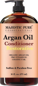 Majestic Pure Argan Oil Hair Conditioner, 470ml - Pure and Natural for All Hair Types, Sulphates Free, Parabens Free