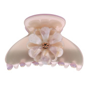 WinnerEco Women Acetate Gripper Floral Barrette Hair Claw Clip Gripper Headwear Clips Hair Accessories for Women