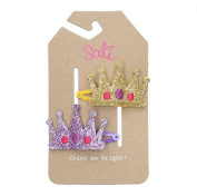 Sati Little Princess Crown Hair Clips for Girls