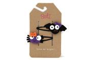 Sati Halloween / Bat & Spider Hair Clips for Girls / Halloween Hair Clips