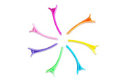 Full Gold Multi Solid Colour Plastic Large Duck Teeth Hair Clips Non Slip band Clips,Professional Salon Hair Grip Clips.