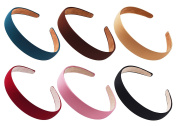 STHUAHE 6 PCS Women Gril Retro Simple Style Broadside Solid colour Hair Hoop Hairband Headband Headwear Hair Accessory