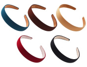 STHUAHE 5 PCS Women Gril Retro Simple Style Broadside Solid colour Hair Hoop Hairband Headband Headwear Hair Accessory