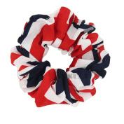 6Pcs Women Hair Scrunchies USA American Flag Union Jack Scrunchie