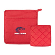 Southwest Quilted Canvas Red Pot Holder 'Primary Mark'