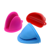 Saim 3Pcs Pot Holder Cooking Pinch Grips Silicone Insulated Hand Clip, Heat Resistant, Mix-Colour Set