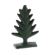 Rustic Green Cast Iron Tree Place Card Holder Set 4 | Photo Party Stand