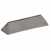 Silver Iron Place Card Holder Set | Nickel Metal Triangle Bar Simple
