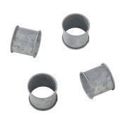 SARO LIFESTYLE Galvanised Design Rustic Style Metal Napkin Ring (Set of 4), 6.4cm x 8.9cm , Silver