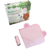 Bamboo Hooded Baby Towel, Washcloth (Pink), and Laundry Bag Antibacterial and Hypoallergenic   Extra Soft to Keep Baby Warm and Cosy   90cm x 90cm size, for Infants or Toddlers and kids - Bamboo Scout