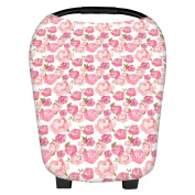 Martofbaby Rose Flower Car Seat Nursing Covers for Babies Mommy Scarf Trend Canopy Shopping Cart Breastfeeding Cover Breathable & Soft
