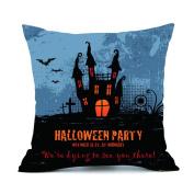 ✿Moseâ . !Halloween Party Demon Series Pillow Cases ,Linen Sofa Cushion Cover Home Decor