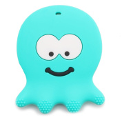 Baby Teething Toys - Sensory Learning Octopus (Turquoise) Teether - Made From BPA Free Silicone - Best for 3 / 6 / 12 Months, 1 Year Old, Infant, Newborn, Toddler - Girl or Boy - Cool Baby Shower Gift