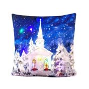 Botrong Colour Lights Christmas Pillow LED Lights Pillow Creative Printing Linen
