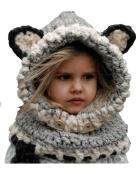 Ewandastore Fashion Baby Kids Super Cute Winter Warm Soft Knitted Coif Hood Scarf Beanie Fox Animal Hat
