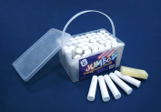 Jumbo Chalk Bucket - 52 Sticks of White Chalk