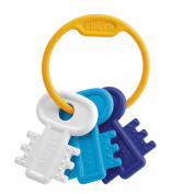 Chicco Chew Keyring Baby Toy, Blue