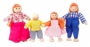 Lovely Small Dolls Play House Toys Role Playing Dolls, Four Family Peoples