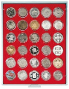 Coin box with 30 compartments, each 39 mm Ø [Lindner 2226] Standard