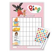 BING POTTY TOILET TRAINING reward Chart + Pen & Free Star Stickers - BI05T
