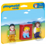 Playmobil 6966 1.2.3 Parents with Baby Cradle