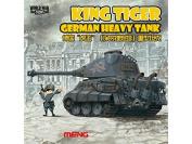 Meng WWT-003 Model - German King Tiger (Porsche Turret) World War Toons