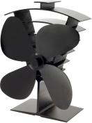 Valiant FIR361 Premium 4 Heat Powered Stove Fan, Satin Black
