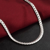 5mm 20inches 925 Sterling Silver Chain Necklace Men/ Women Fashion Jewellery New pimchanok