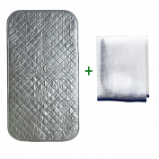 Premium Ironing Blanket/Iron Mat/Board Cover/Laundry Pad|80cm x 46cm |Portable & Double-side Using & Non Skid & No Shape Left| for Most Flat Surfaces|Great for Travel Home| Protective Mesh Gift Included