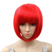 Arich Women Sexy BOBO Head Style Straight Bang Short Wigs Hairnet Hair Cap
